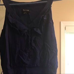White House Black Market Navy Blue Dress